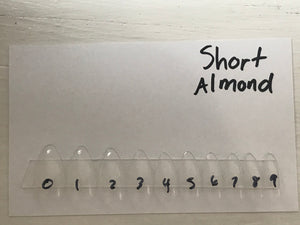 Short Almond Sizing