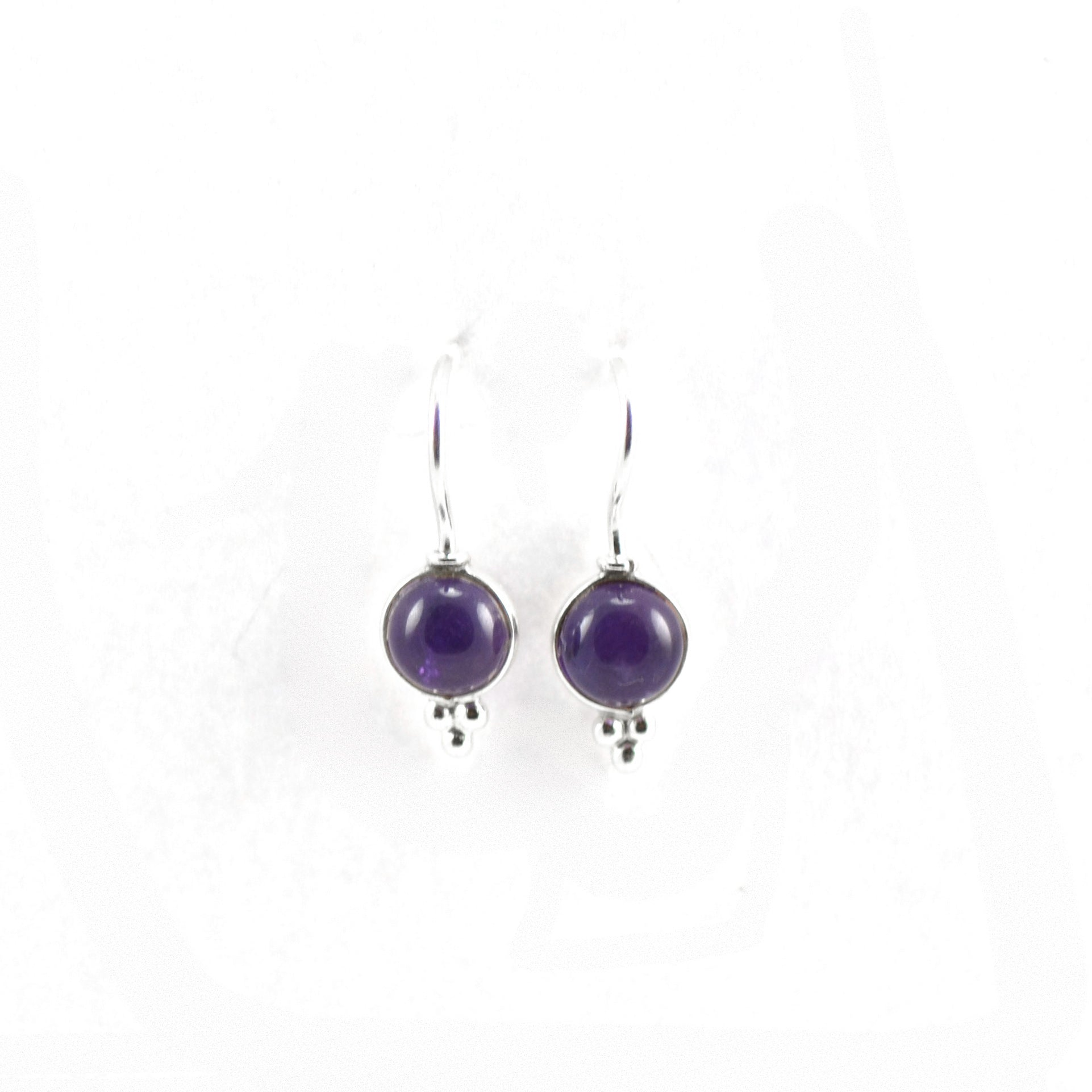 Dainty Drop Amethyst Earrings