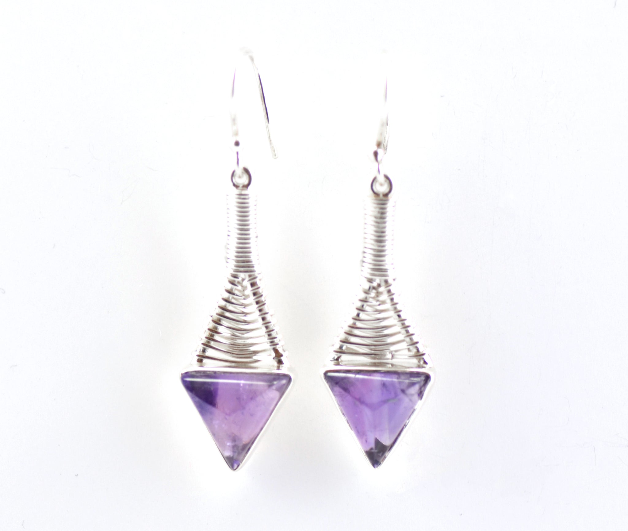 Aquatic Amethyst Earrings