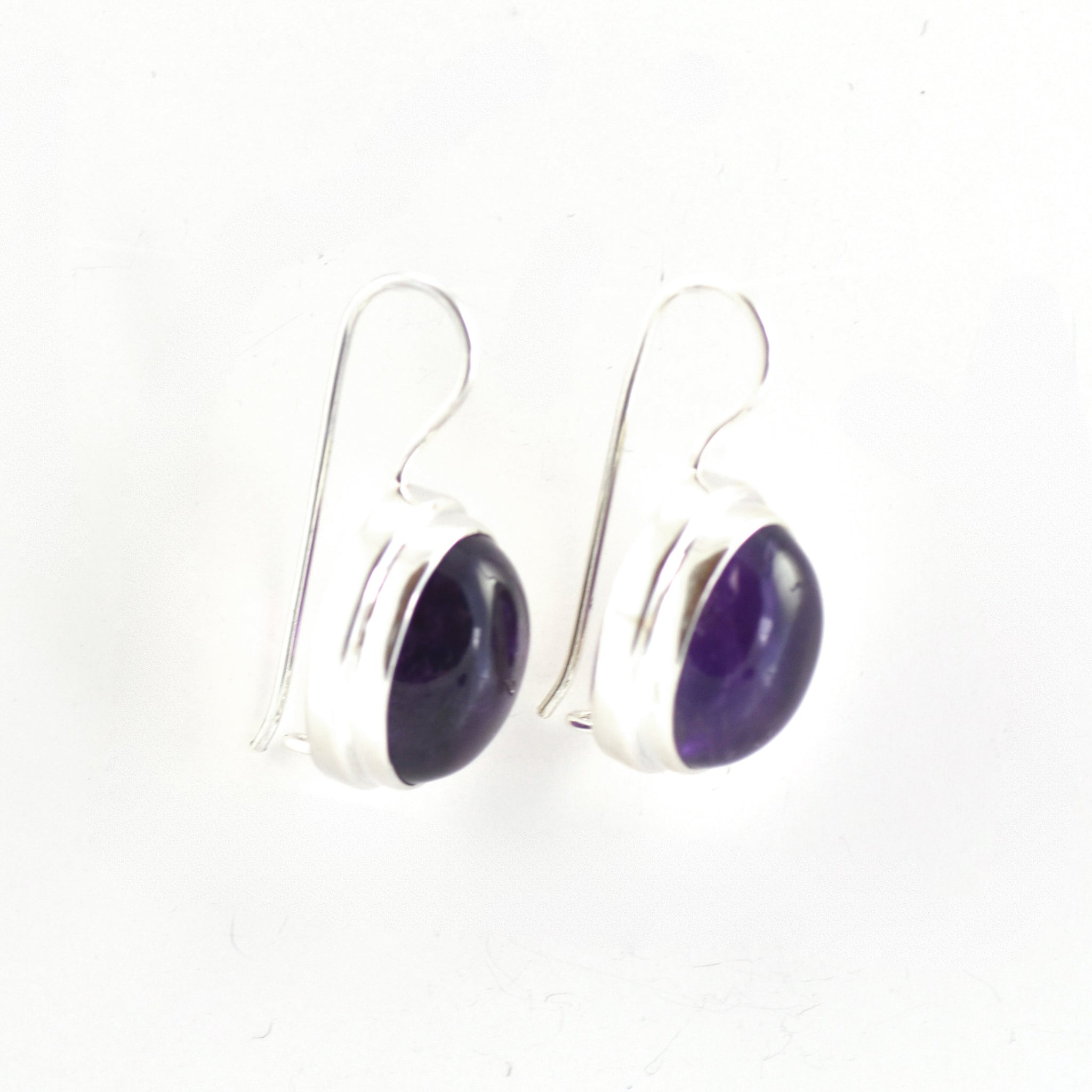 Magnificent Oval Amethyst Earrings