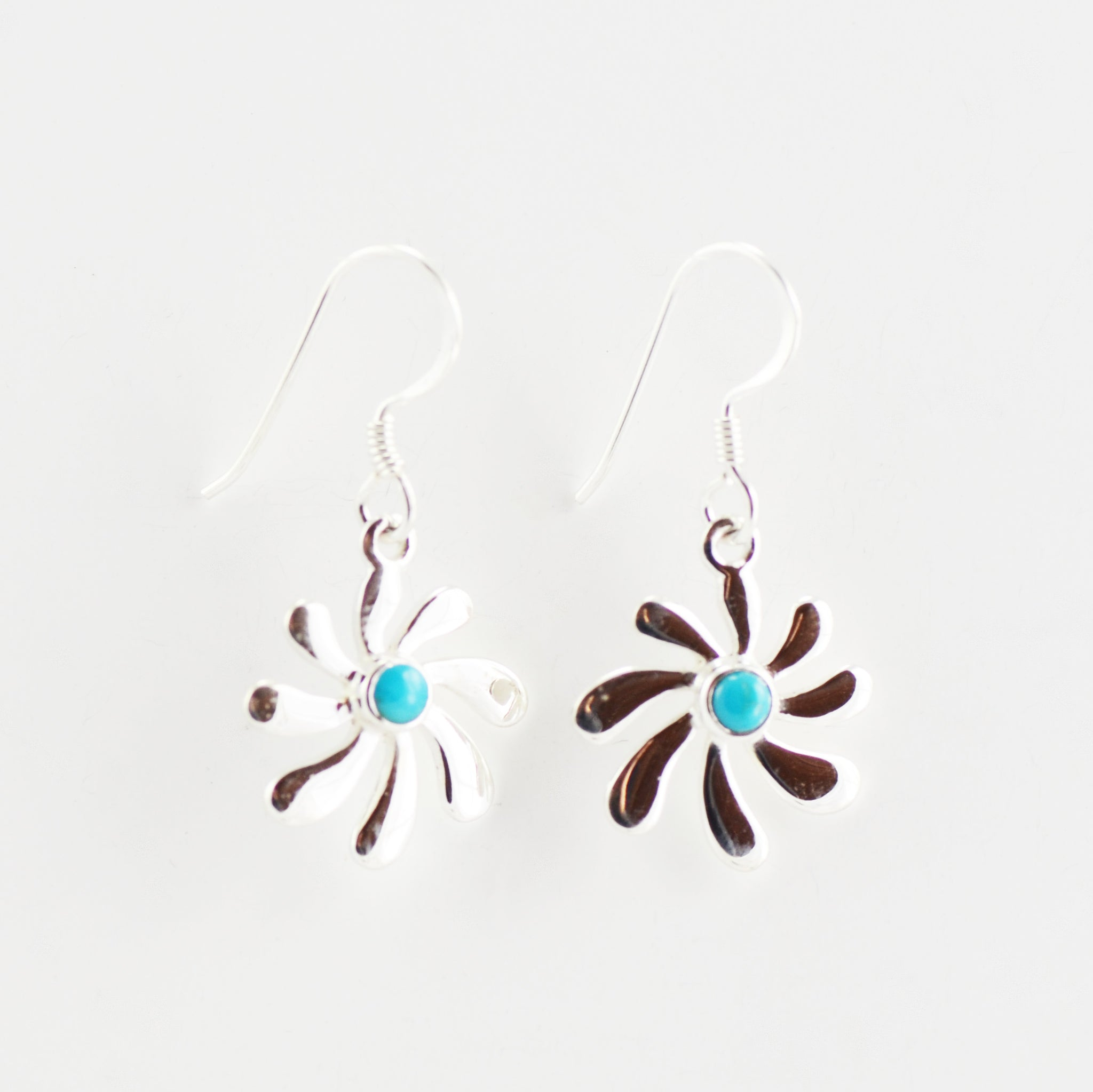 Turquoise Tsunami Swirl Stud Earrings
