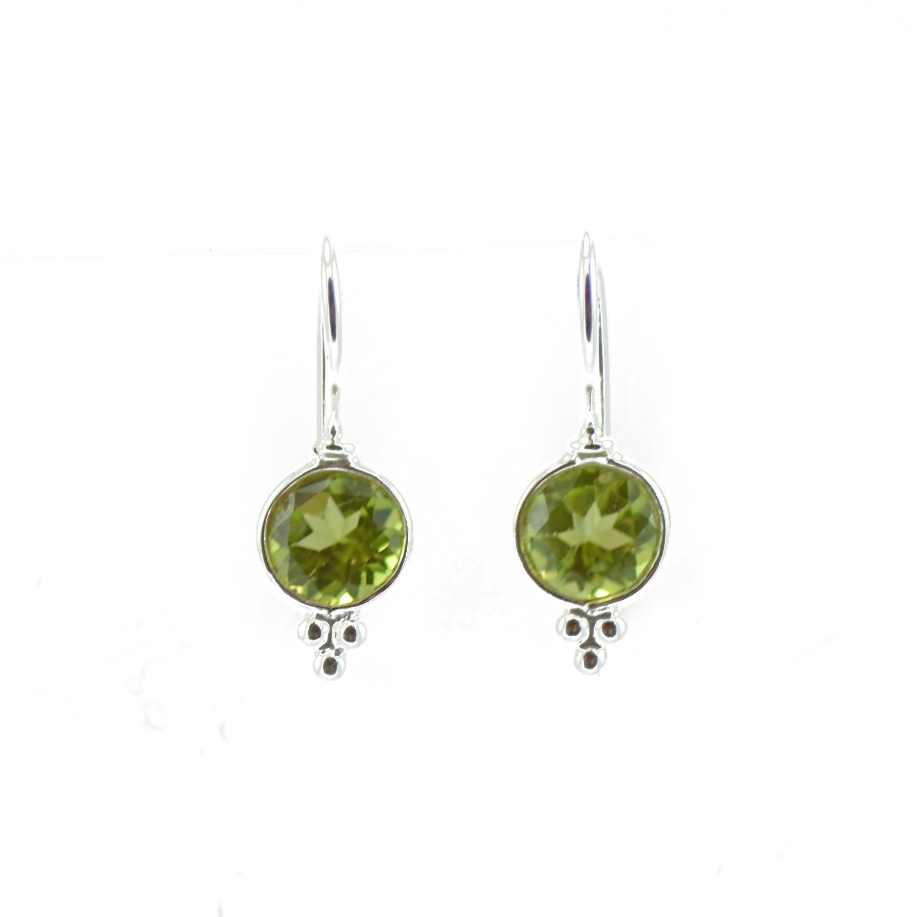 Dainty Drop Peridot Earrings