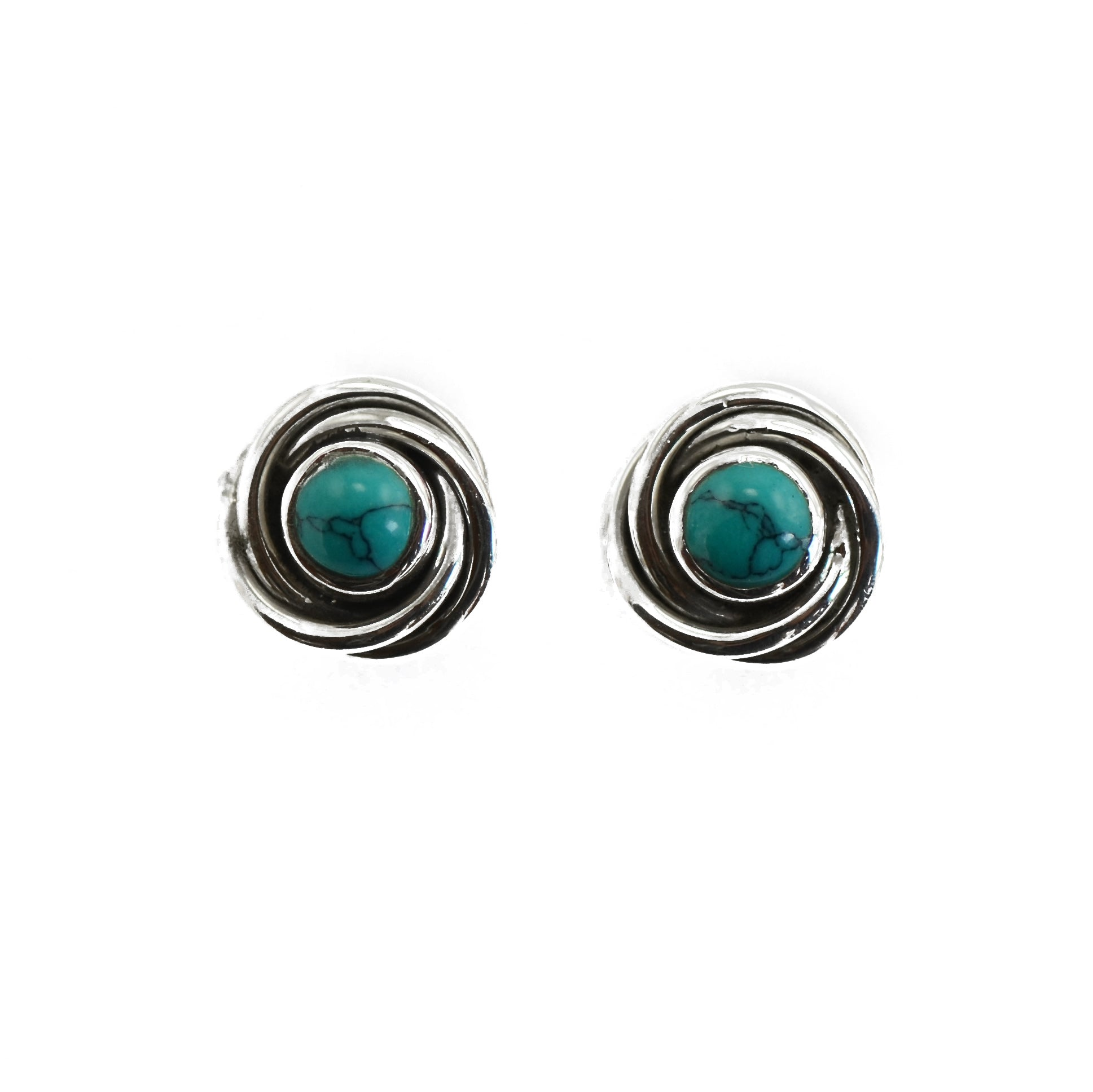 Turquoise Tornado Stud Earrings
