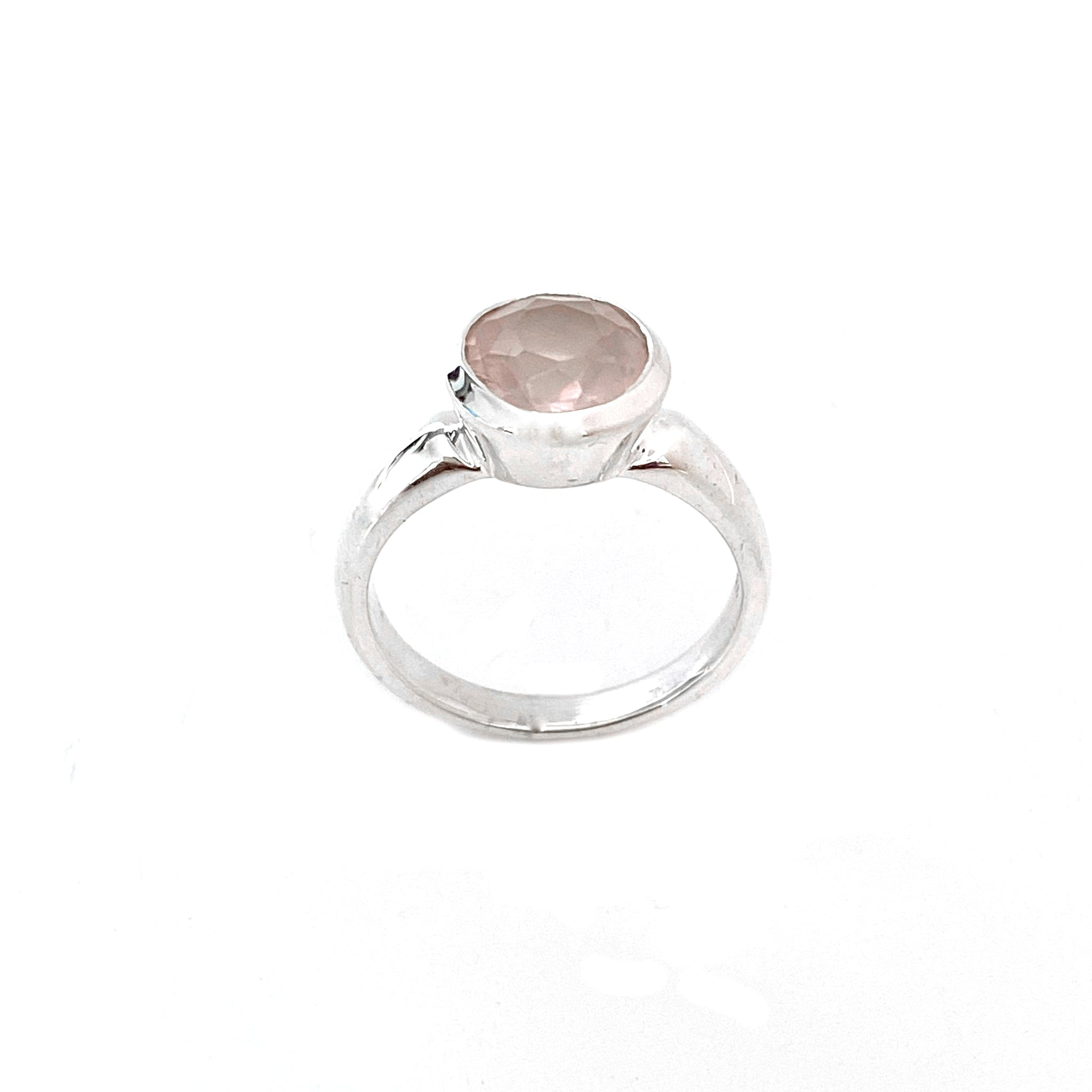 Deep Collar Rose Quartz Ring