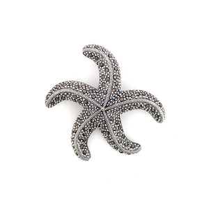 Magnificent Marcasite Starfish Brooch