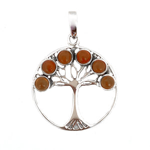 Amber Tree of Life Pendant