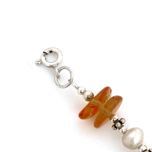 Double Pebble Amber Bracelet
