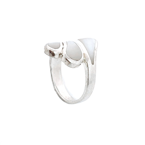 Silver Mother of Pearl Shell Ring