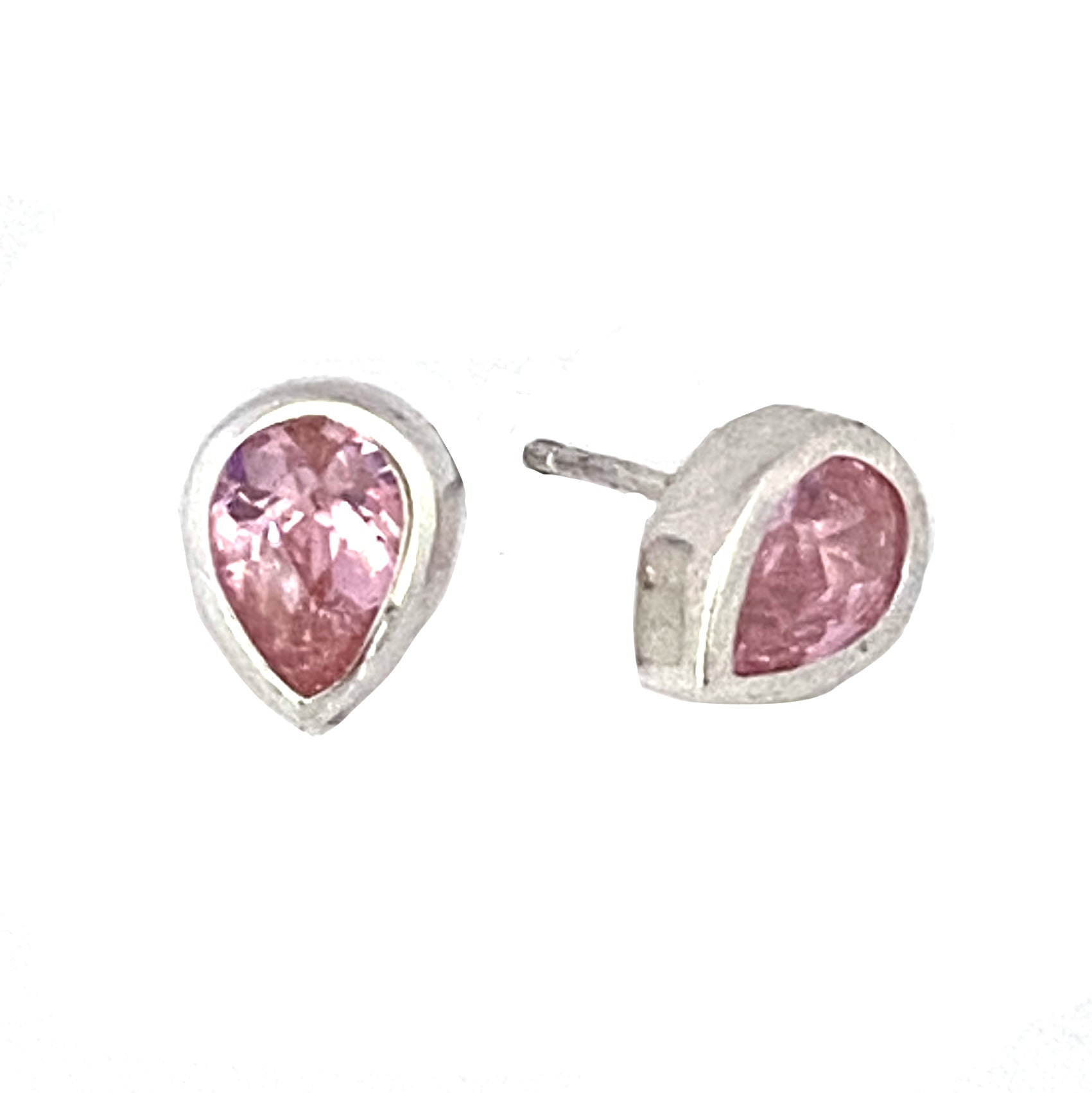 Sparkling Pink CZ Bud Earring