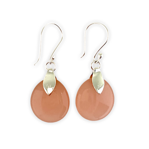 Classic Rose Quartz Oval Earrings
