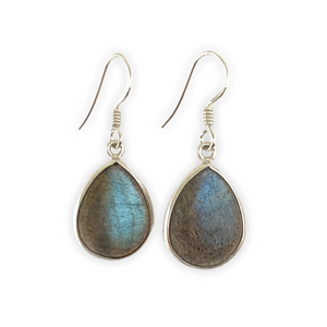 Classic Labrodorite Teardrop Earrings