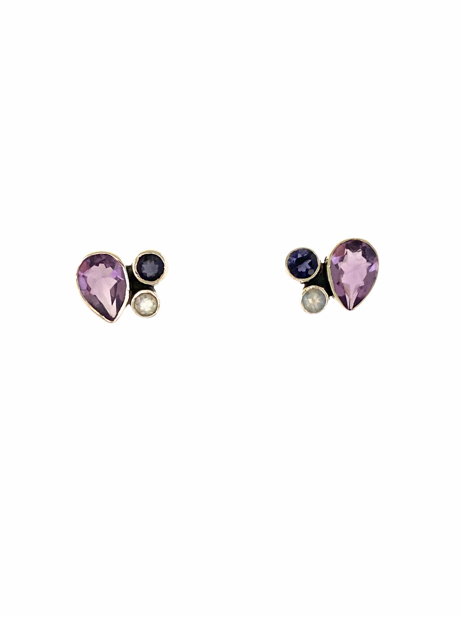 Multi Stone Stud Earrings