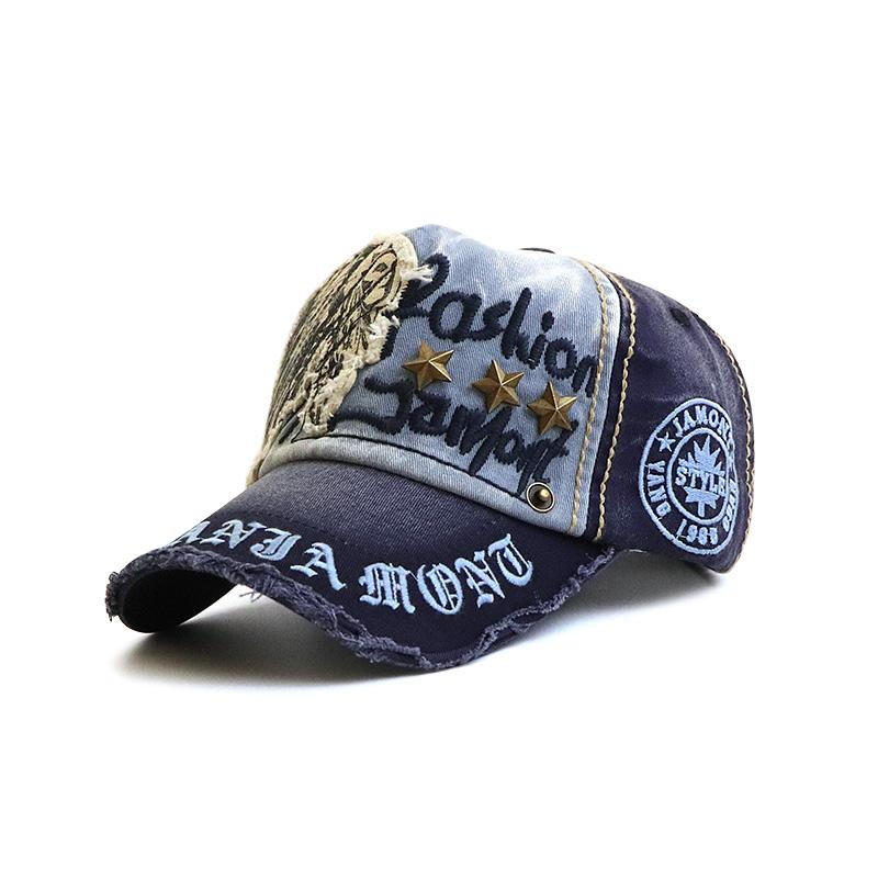 Men's Rivet Casual Letter Print Baseball Cap