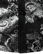 Men's Luxury Printed Paisley Long Sleeve Button Shirts
