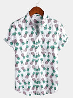 Men's Holiday Short Sleeve Cotton Shirt