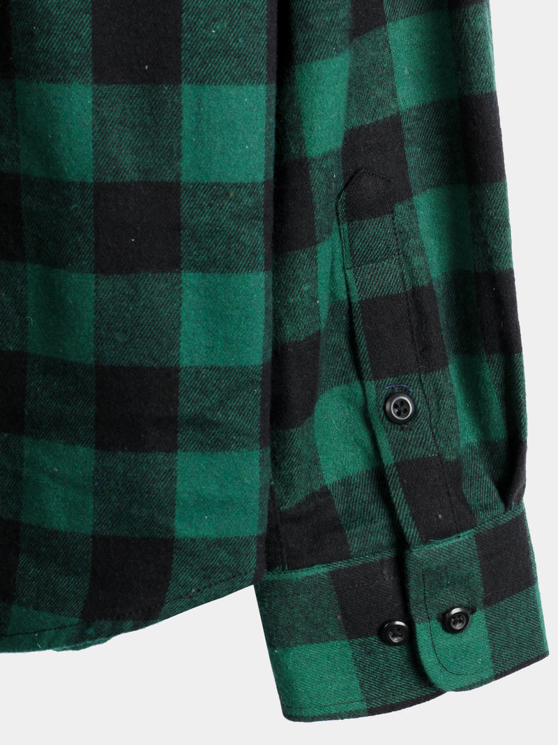 Men's Button Up Regular Fit Long Sleeve Plaid Flannel Casual Shirts