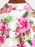 Men's Holiday Floral Printed Cotton Shirts
