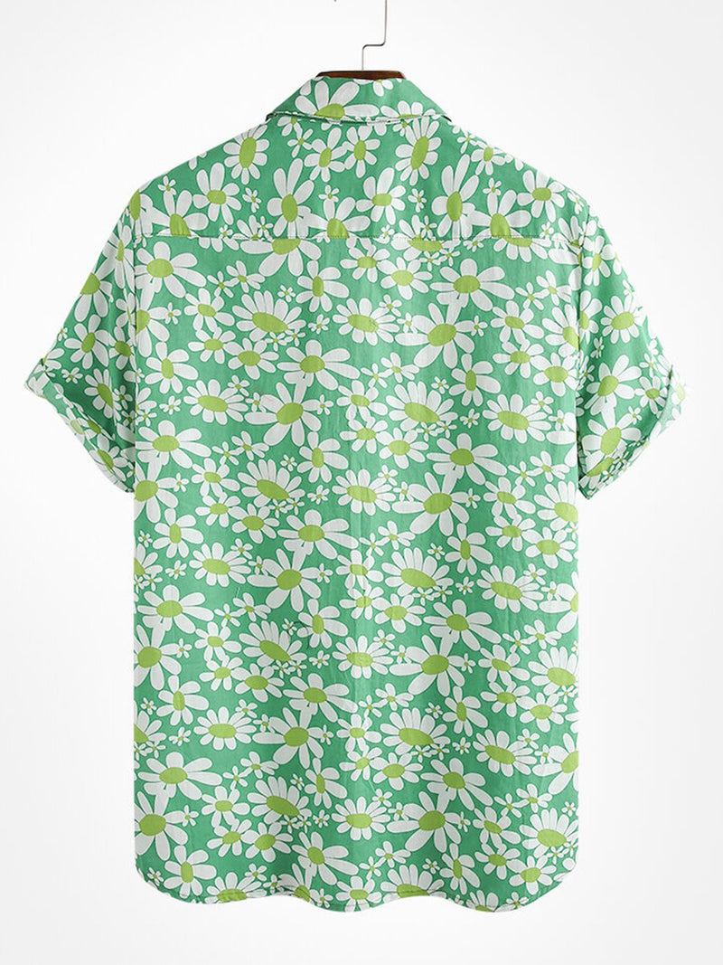 Men's Floral Printed Casual Shirts