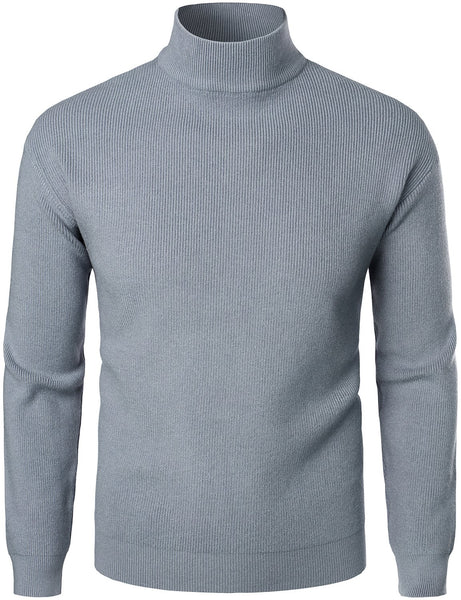 Men's Casual Slim Fit Pullover Turtleneck Sweater