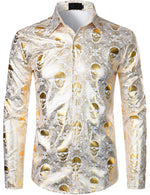 Men's Luxury Skull Design Paisley Shirt