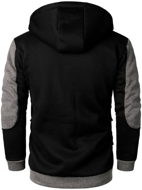 Men's Zip Up Hoodie Jacket Thermal Full Zip Hooded Coat