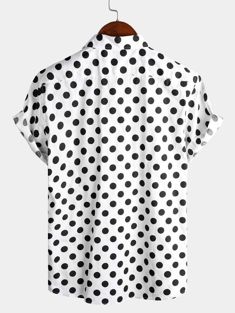Men's Polka Dots Cotton Shirts