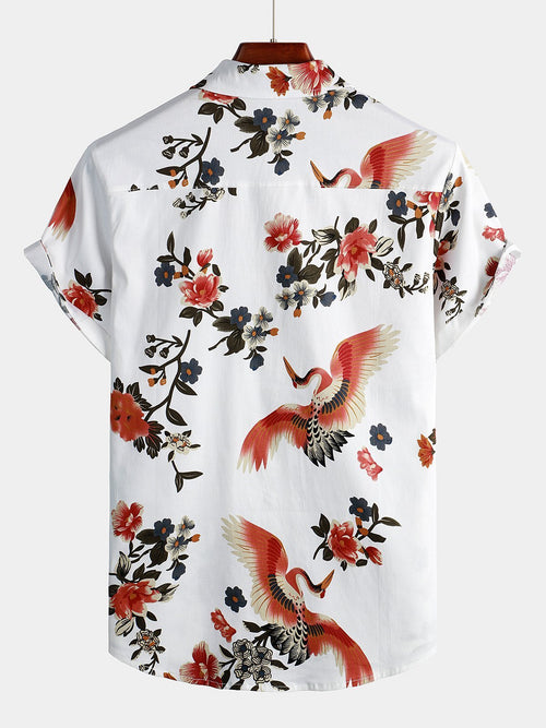 Men's Casual Tropical Hawaiian Shirt