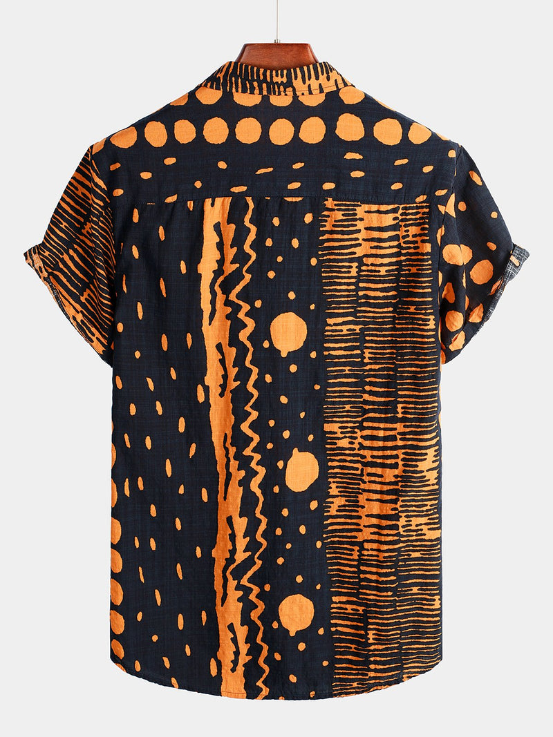 Men's Short Sleeve Polka Dots Shirt