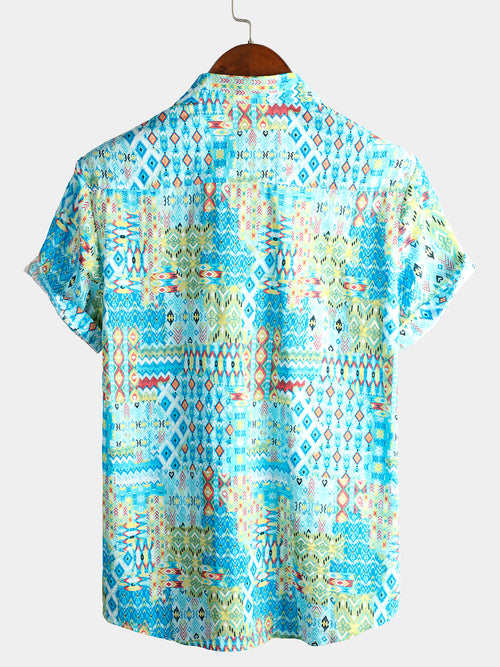 Men's Short Sleeve Cotton Shirts