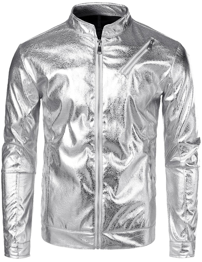 Nightclub style metallic shiny shirt