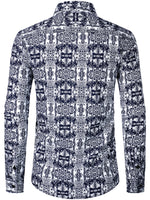 Men's Casual Cotton Long Sleeve Shirt