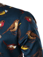 Men's Cotton Long Sleeve Animal Printed Shirt