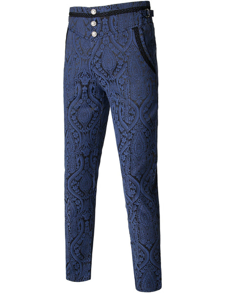 Men's Gothic Pants Cosplay Costume Trousers Steampunk Victorian Pants