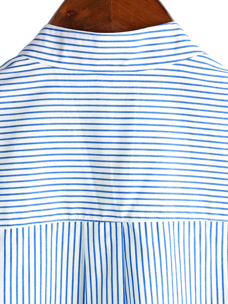 Men's Breathable Cotton Short Sleeve Striped Shirts