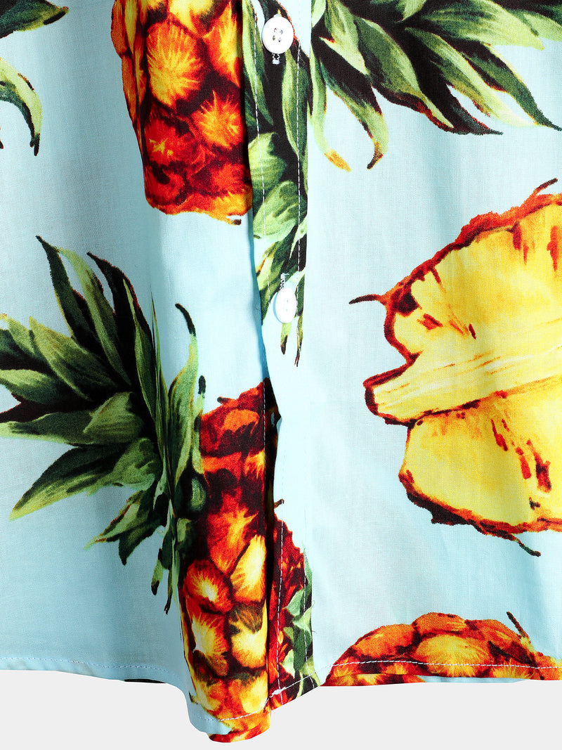 Men's Pineapple Holiday Cotton Shirt
