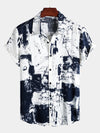 Men's Short Sleeve Holiday Casual Shirt