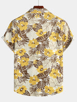 Men's Short Sleeve Floral Tropical Hawaiian Shirt