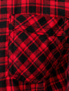 Men's Cotton Long Sleeve One Pocket Business Plaid Shirt