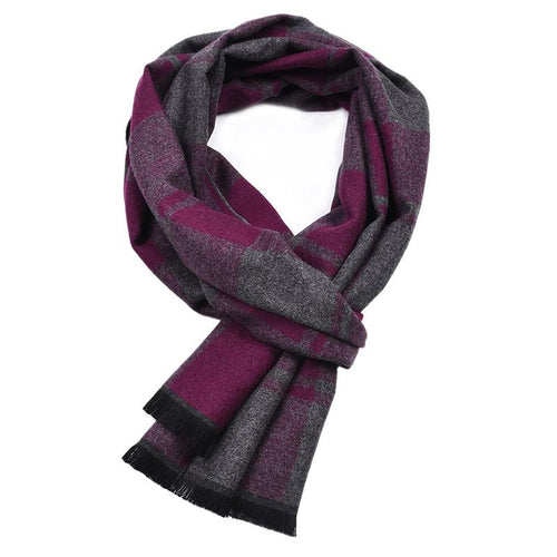 Men's Fashion Plaid Warm Scarf