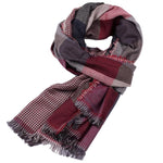Men's Classic Double-sided Fringed Scarf