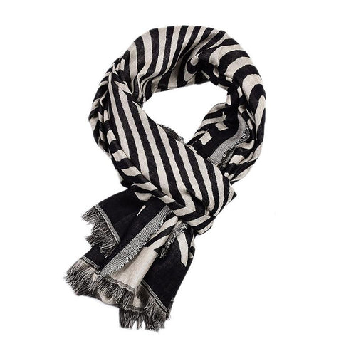Men's Fashion Warm Wave Pattern Scarf