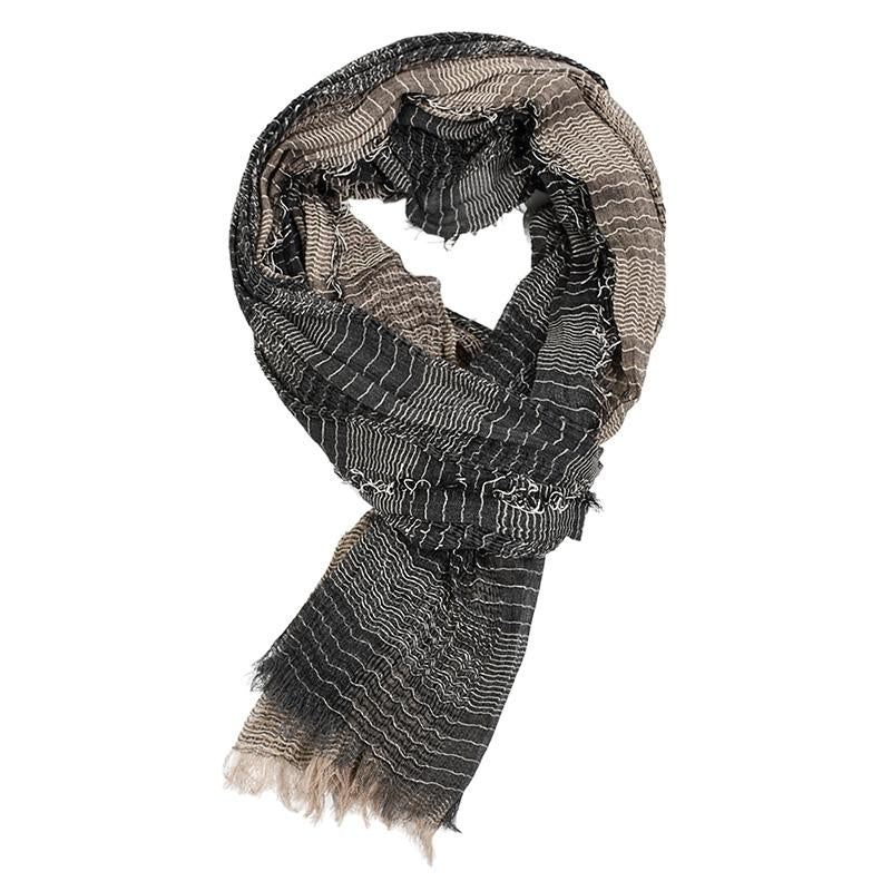 Men's Soft And Lightweight Warm Fashion Stripe Scarf