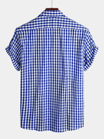 Men's Casual Solid Plaid Cotton Multiple Color Shirts