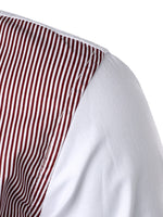 Men's Long Sleeve Casual Striped Cotton Shirt