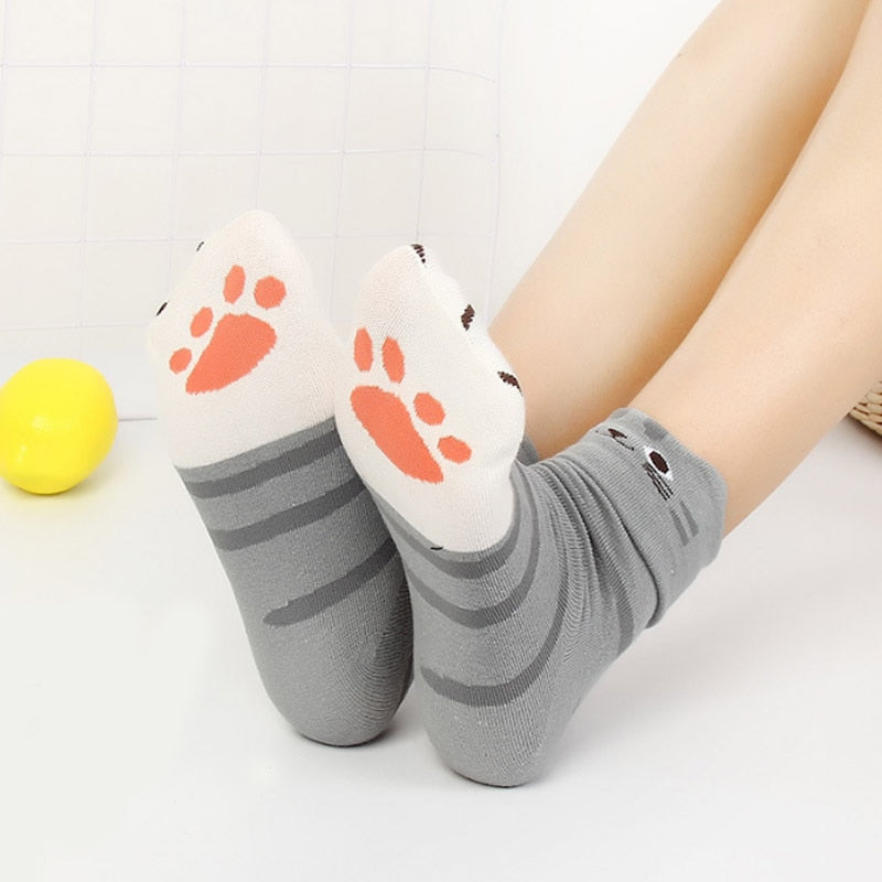 Cute Cat Paw Winter Socks