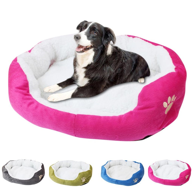 Soft And Warm Double-Cushion Puppy Bed