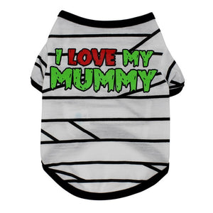 I LOVE MY MOMMY Striped Pet Shirt