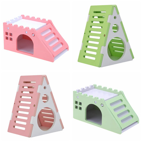 Cute Mini Wooden Hamster House Staircase for Guinea-pig
