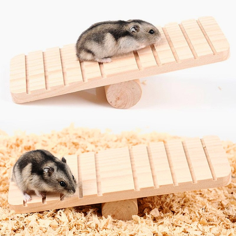 Hamster Golden Bear Wood Seesaw Non-slip