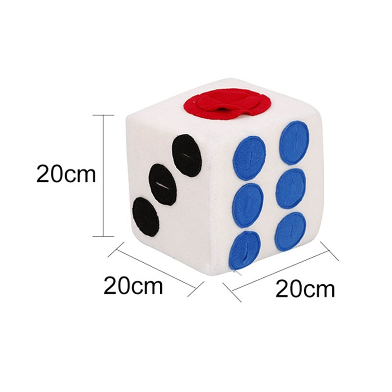 Pet's Market Colored Dice Shape Toy